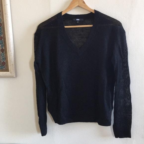 ... 100% linen black summer sweater. M 5a4e670a1dffda5efc0101ae 79f9edaf9